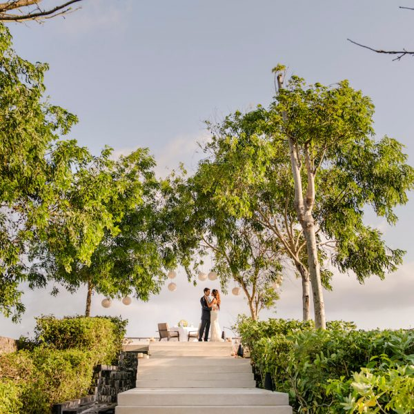 Alila Villas Uluwatu Hilltop Wedding - Couple