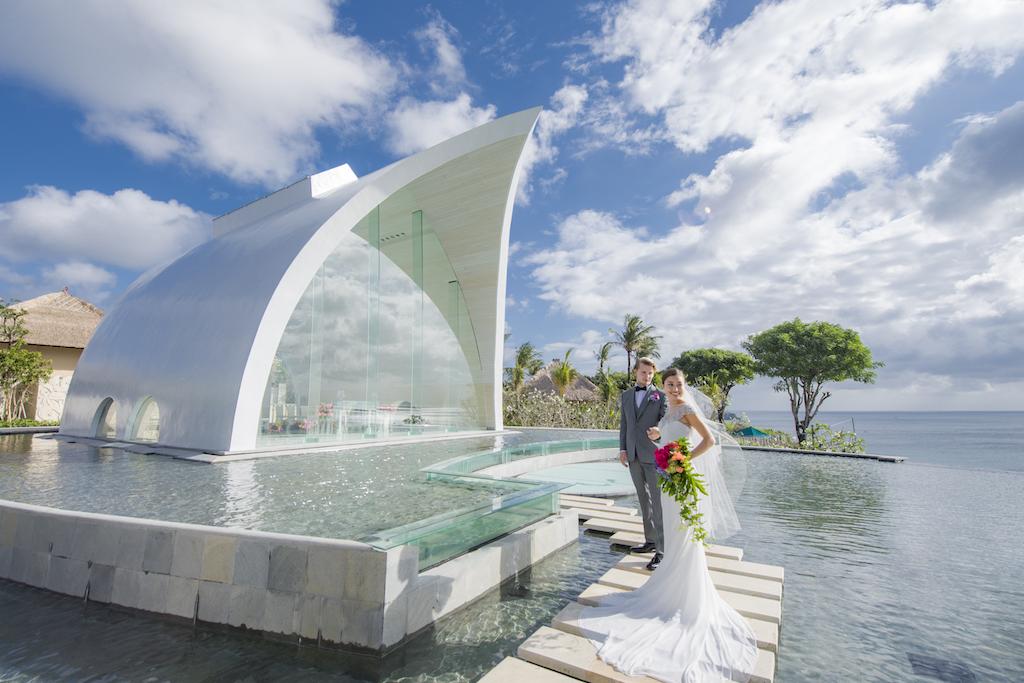 Ayana Tresna Wedding Couple Cloudy Sky