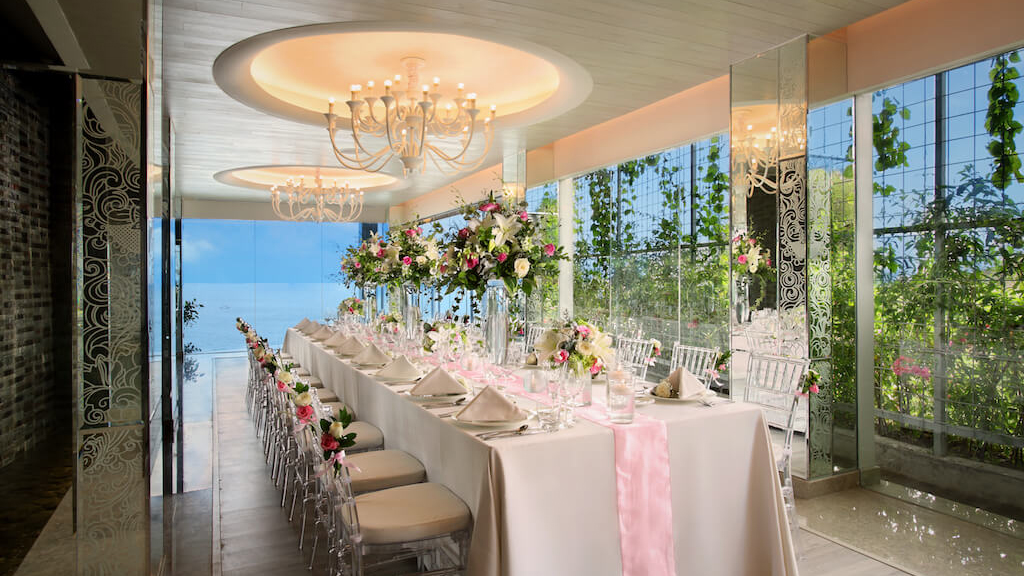 Ayana Villa Function Interior Long Table