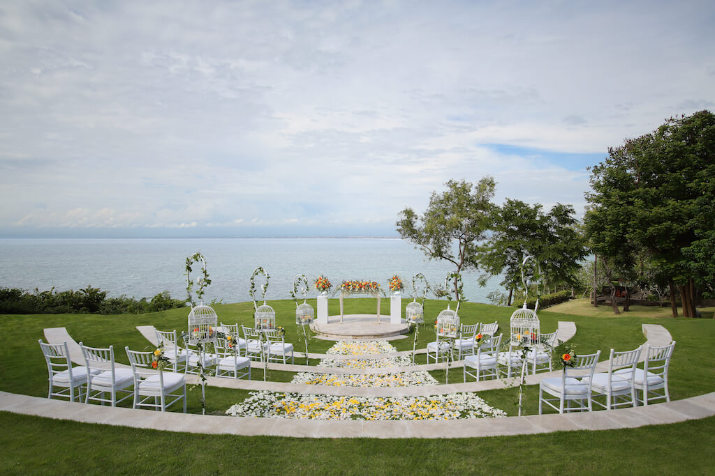 Sky Amphitheater Bali Wedding Setup